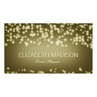 Elegant Confetti Champagne Bubbles Business Card