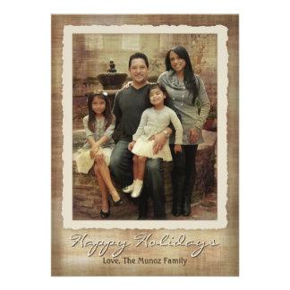 Elegant Contemporary Antique Holiday Photo Card Custom Announcement