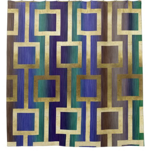 Pastel Purple Pink Green Blue Timber Wood Look: Unique Shower Curtain Collections