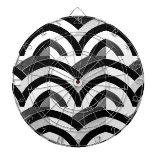 elegant contemporary stylish chevron dartboard