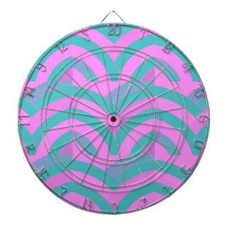 elegant contemporary stylish chevron dartboard with darts