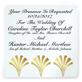 Elegant Contemporary Wedding Invitation Card