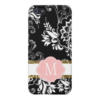 Elegant, cool and classic, girly B&W floral iPhone 5 Covers