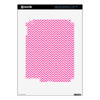 Elegant, cool, classic, girly lucky pink chevron iPad 3 skins