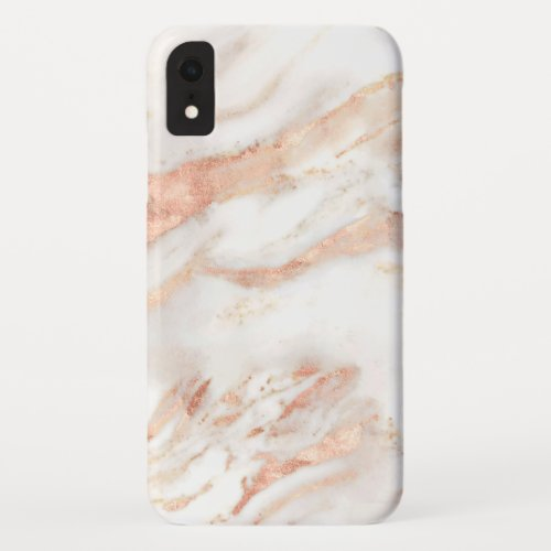 Elegant Copper | Girly Rose Gold Marble Phone Case
