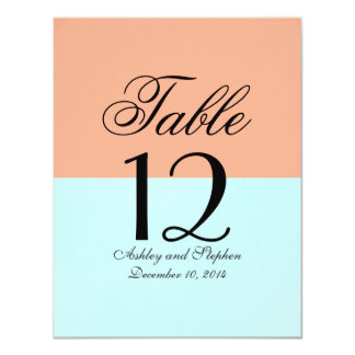 Elegant Coral and Mint Green Two Tone Color Split Card