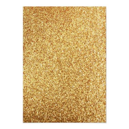 Elegant Coral Glitter Gold Wedding Invitation (back side)