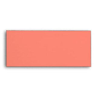 Elegant Coral Moroccan Trellis Quatrefoil Clover Envelope