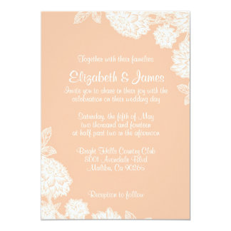 Elegant Coral Wedding Invitations Custom Invitation