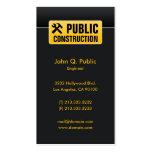 Elegant Corporate Black Construction Business Card