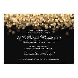 Elegant Corporate Fundraiser Gold Lights Card