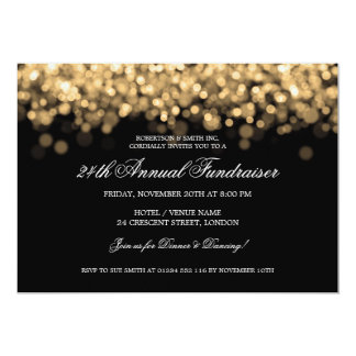Elegant Corporate Fundraiser Gold Lights Card