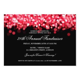 Elegant Corporate Fundraiser Red Lights Card