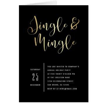 Professional Business Elegant Corporate Jingle & Mingle Party Invitation