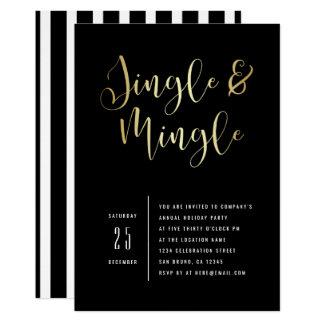 Elegant Corporate Jingle & Mingle Party Invitation