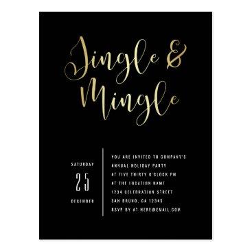 Professional Business Elegant Corporate Jingle & Mingle Party Invitation Postcard