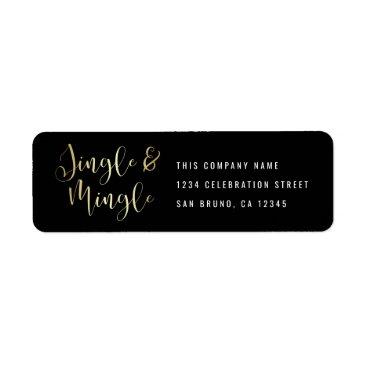 Professional Business Elegant Corporate Jingle & Mingle Party Label