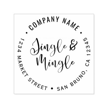 Professional Business Elegant Corporate Jingle & Mingle Party Self-inking Stamp