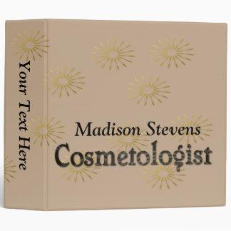 "Elegant Cosmetologist Binder 2"""