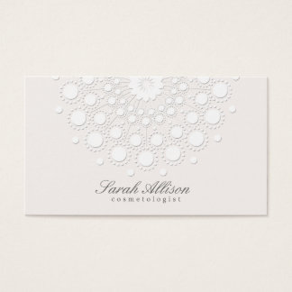 Elegant Cosmetologist White Salon and Spa Business Card