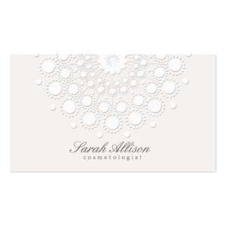 Elegant Cosmetologist White Salon and Spa Double-Sided Standard Business Cards (Pack Of 100)