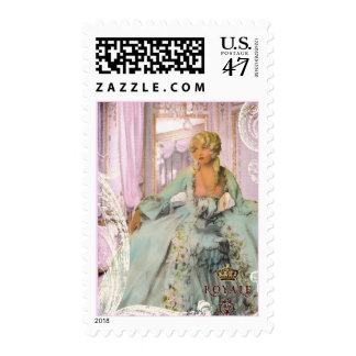 Elegant Costume Design Postage Stamps