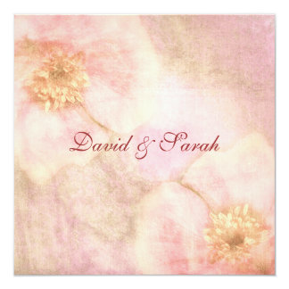 Elegant Cottage Chic Rose Save The Date Card