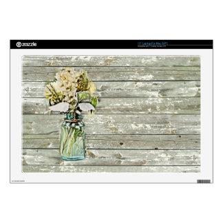 """Elegant country floral damask vintage skin for 17"""" laptop"""