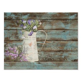 elegant country lavender vintage birthday party card