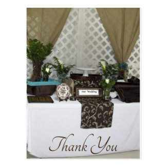 Elegant Country Wedding Thank You Postcard