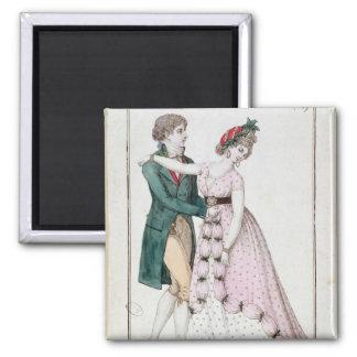 Elegant Couple Dancing the Waltz Magnet