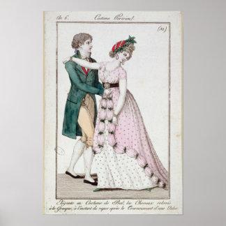 Elegant Couple Dancing the Waltz Poster