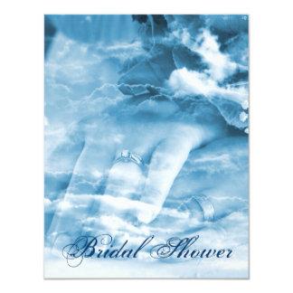 elegant couple hands vintage bridal shower card
