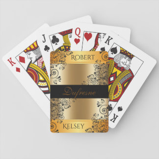 Elegant Couples First & Last Name Playing Cards
