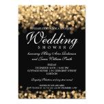 Elegant Couples Shower Gold Lights 5x7 Paper Invitation Card