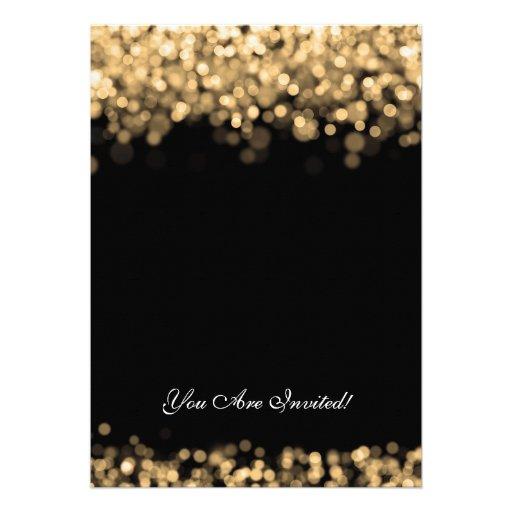 Elegant Couples Shower Gold Lights Invitations (back side)