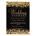 Elegant Couples Shower Party Sparkles Gold 5x7 Paper Invitation Card