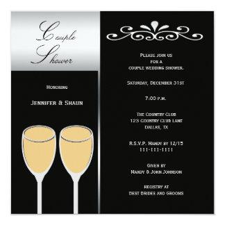 Elegant Couples Wedding Shower Invitations