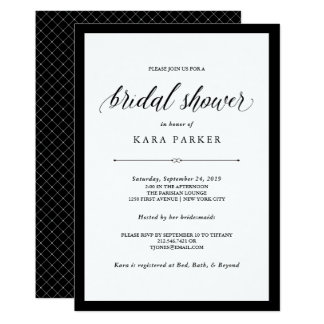 Elegant Couture | Black and White Bridal Shower Card