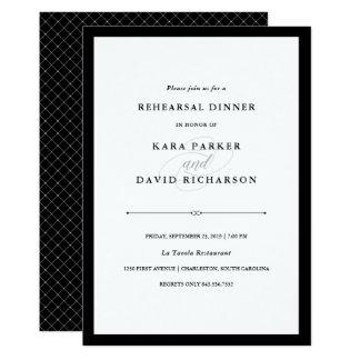 Elegant Couture | Black and White Rehearsal Dinner Card