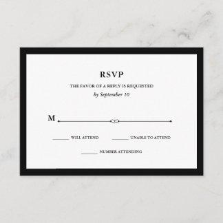 Elegant Couture | Black and White RSVP