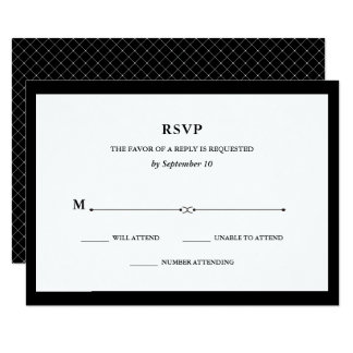 Elegant Couture | Black and White RSVP Card