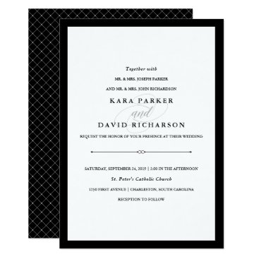 Customize_My_Wedding Elegant Couture | Black and White Wedding Card