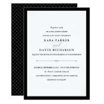 Elegant Couture | Black and White Wedding Invitation