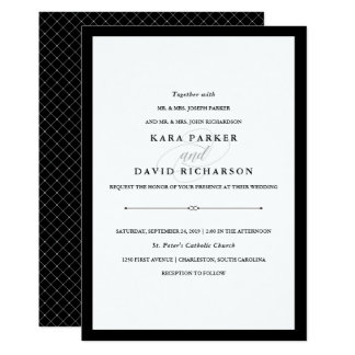 Elegant Couture | Black and White Wedding Invitation
