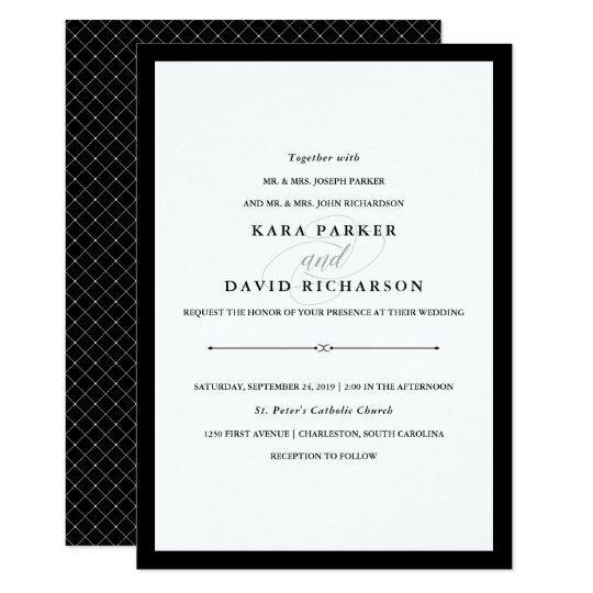 Black White Wedding Invitations: Black And White Wedding Invitation