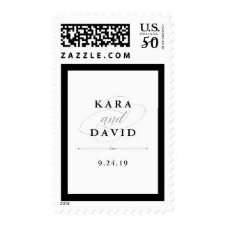 Elegant Couture | Black and White Wedding Postage