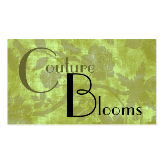 Elegant Couture Floral Business Card