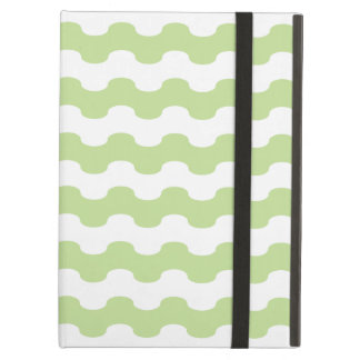 Elegant Cover iPad of waves green fresh in zigzag iPad Air Case