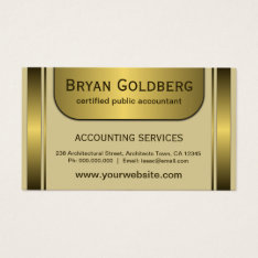 Elegant Cream And Gold Standard Cpa Accountant Business Card at Zazzle